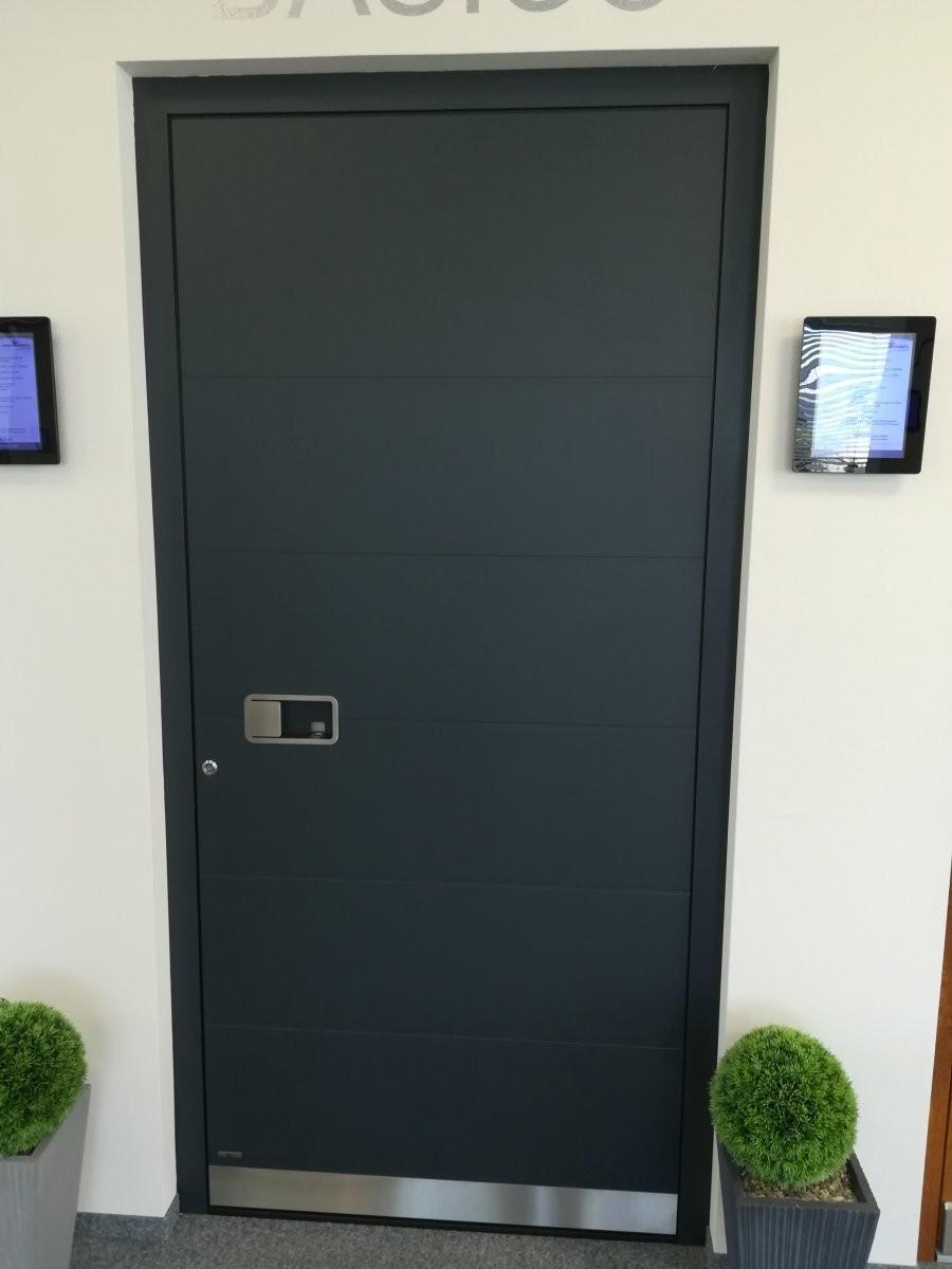Türe mit geschlossener Füllung, außen flügelüberdeckend